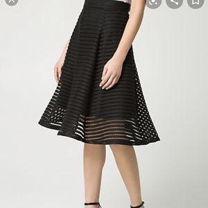 Le Chateau Black Shadow Skirt - Size 8